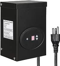 DEWENWILS 120W Outdoor Low Voltage Transformer with Timer and Photocell Sensor, 120V AC to 12V AC, Weatherproof, for Halogen & LED Landscape Lighting, Spotlight, Pathway Light, ETL Listed