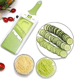 Aliments Salade Hachoir Cutter pour Fruits Tomate Patate Gingembre,Manuel Coupe-légumes,Multifonction Coupe-oignon Dicer C...