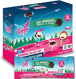 Zeek Kids Protein Bars, 9g of Protein, Healthy Snack for Children, Fits in Lunchbox, Eat in Between Breakfast / Lunch or after Sports, Low Sugar, Gluten Free