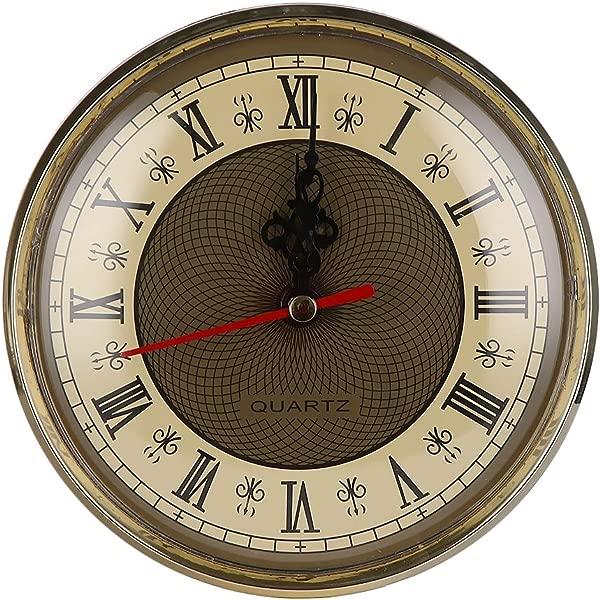 Clock Parts Accessories 130mm Clock Quartz Movement Insert Roman Numeral White Face Gold Trim Diy Repair Replacement Insert Clock Numeral Watch Quartz Clock Wristwatch Roman Roman Watch I