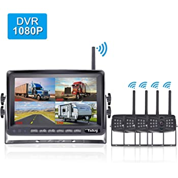 Yakry Upgraded Digital Wireless Backup Camera 1080P for 7 inch Monitor with Record Function Compatible B07FM58K2W and B07H3PGBYB Waterproof IP69K