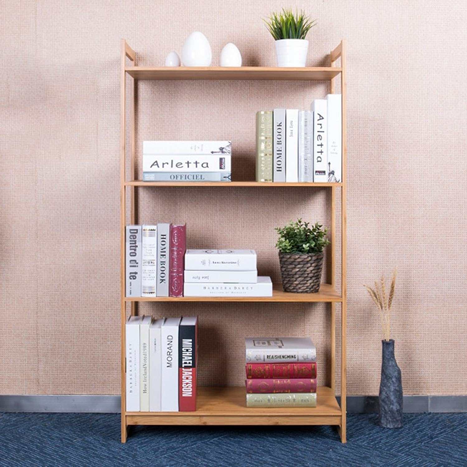 Living Room Bamboo Shelf Creative Kitchen Microwave Oven Frame Landing Bookshelf Storage Rack -by TIANTA (Size   40  30  123cm)