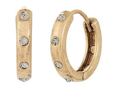 AllSaints Studded Huggie Hoop Earrings (Black Diamond) Earring