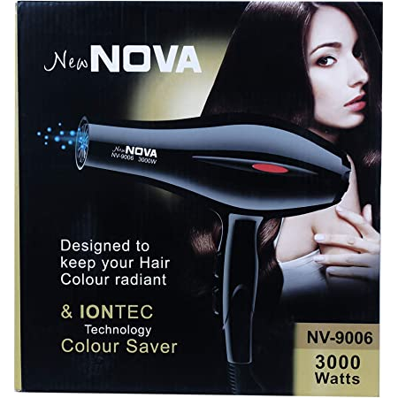 CETC Hair Dryer 3000 watt Professional Hair Dryer (Black)