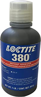 Loctite 135424 Black Max 380 Cyanoacrylate Adhesive Liquid, 1 lb Bottle