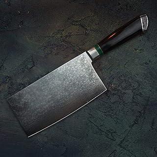 """7"""" VG10 Damas acier chinois Cleaver manche ébène Couteau de chef Tranchelard Couteaux de cuisine Cuisine Outils de cuisine..."""