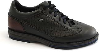 LION 11581 testa di moro marrone scarpe sneakers uomo casual pelle lacci 40