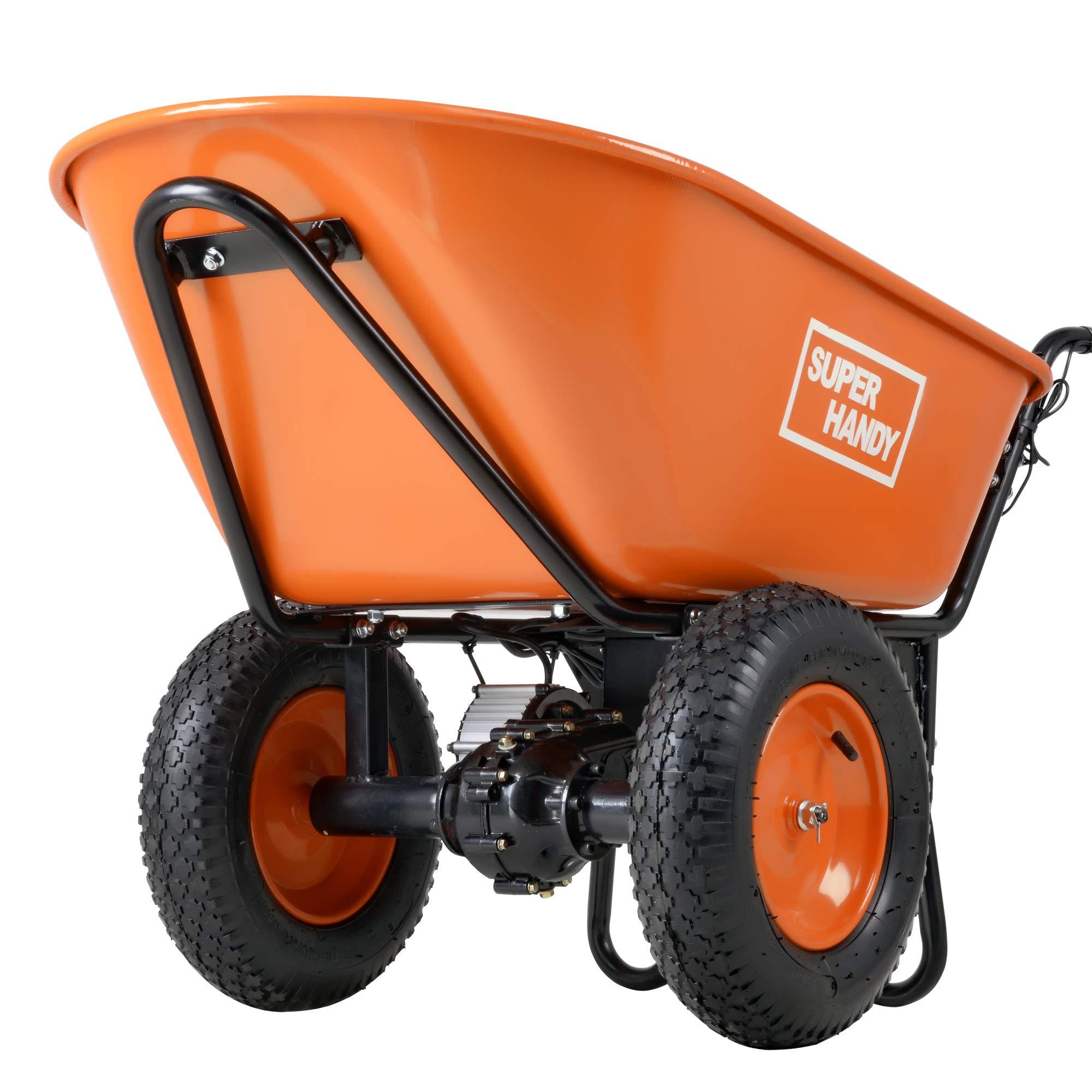 SuperHandy Electric Wheelbarrow Capacity Exclusive