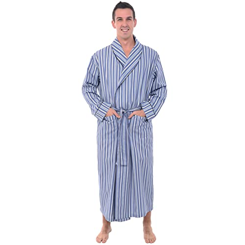 cdd635eec2 Alexander Del Rossa Mens Solid Cotton Robe