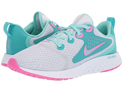 Nike Kids Legend React Aqua (Big Kid) (Pure Platinum/Tropical Twist/Cabana) Girls Shoes