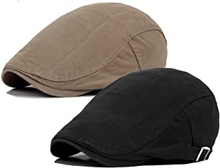 Men's Cotton Flat Ivy Gatsby Newsboy Driving Hat Cap