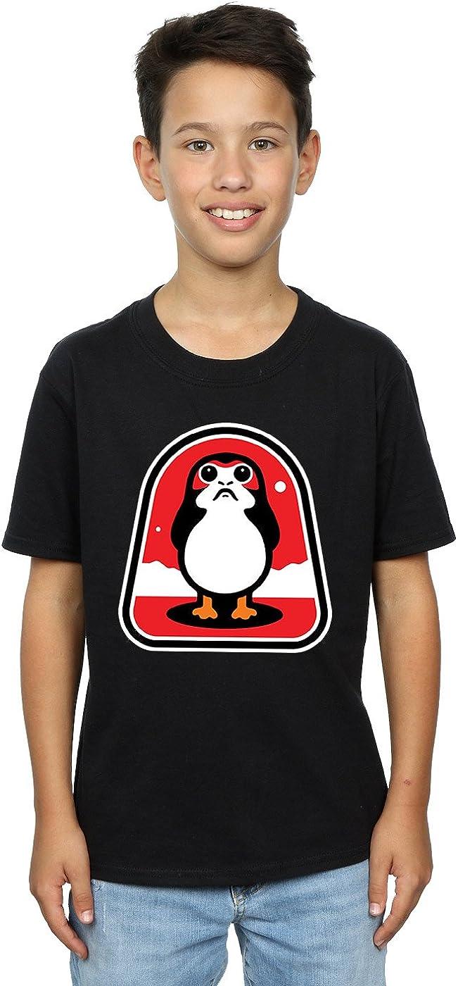 STAR WARS Boys The Last Jedi Porgs Badge T-Shirt 12-13 Years Black