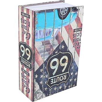 Caja de Seguridad Libro para Poner Joyas, Monedas, Dinero, Objetos de Valor (6#): Amazon.es: Oficina y papelería