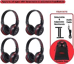 SIMOLIO 4 Pack of Vehicle IR Headphones, Wireless Car Headphones Durable and Flexible for..