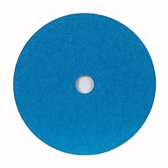 Fiber Backing 7 Diameter Norton BlueFire F826P Speed-Lok Abrasive Disc Grit 36 Zirconia Alumina Box of 25 7//8 Arbor