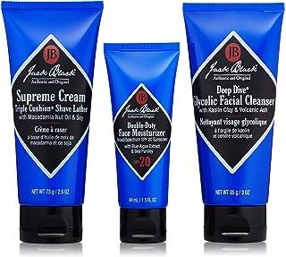 Jack Black - Shave Essentials Set - Deep Dive Glycolic Facial Cleanser, Supreme Cream Triple Cushion Shave Lather, and Dou...