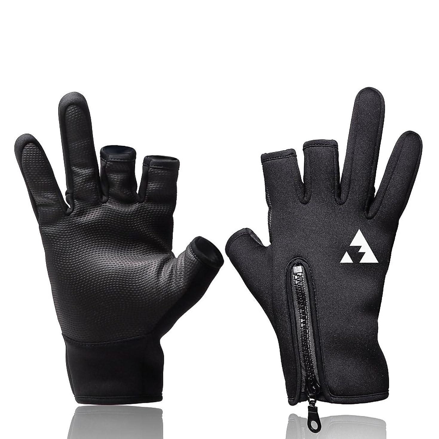 強大な首絶縁するL.A.Y スポーツ フィッシング グローブ 釣り 手袋(ジギング エギング シーバス フライ トローリング対応)【Angler Grip (アングラーグリップ)】