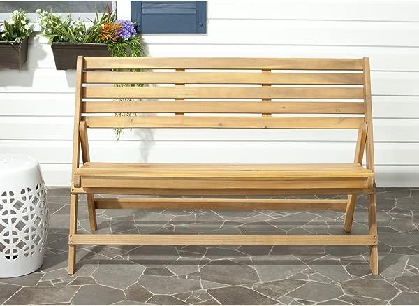 Safavieh Luca Folding Bench Teak