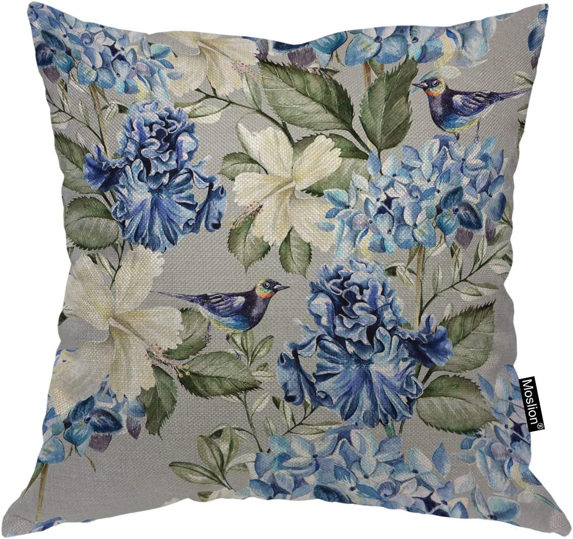 Moslion Floral Decorative Max 53% OFF Pillow Elegant Covers Plant Inch Spring 16x16