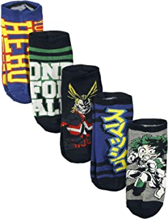 My Hero Academia 5 Pack Ankle Socks Standard, Multi, Size One Size
