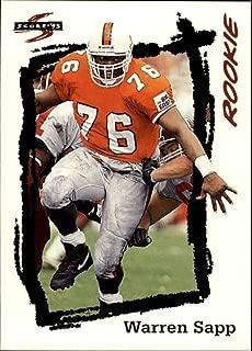 1995 Score Football Rookie Card #267 Warren Sapp