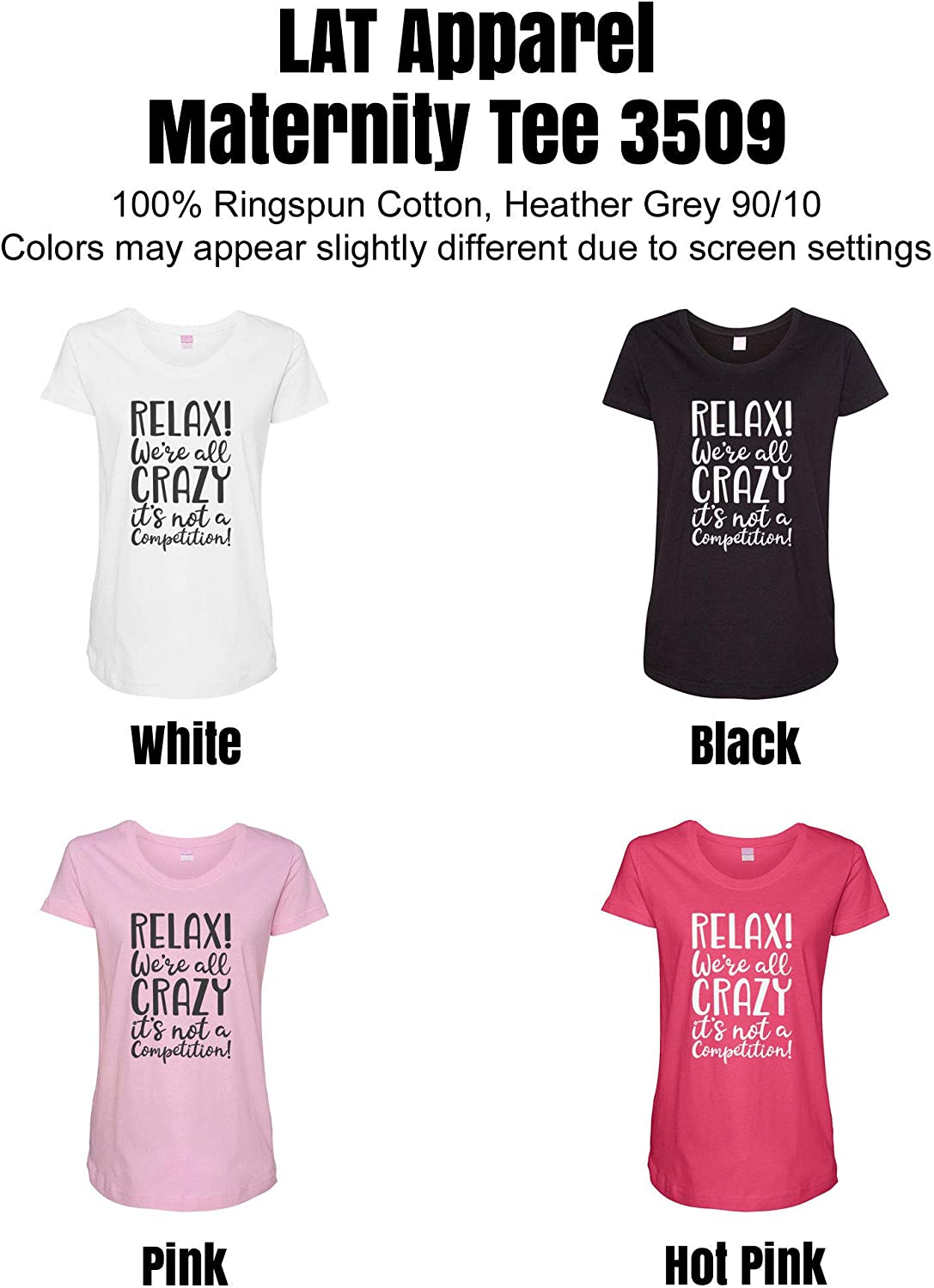 HARD EDGE DESIGN Women's We're All Crazy It's Not A Competition T-Shirt