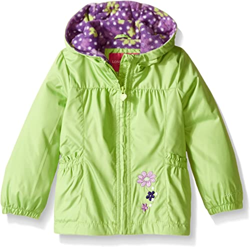 London Fog Little Girls' Toddler Floral Printed Fleece Lined Jacket
