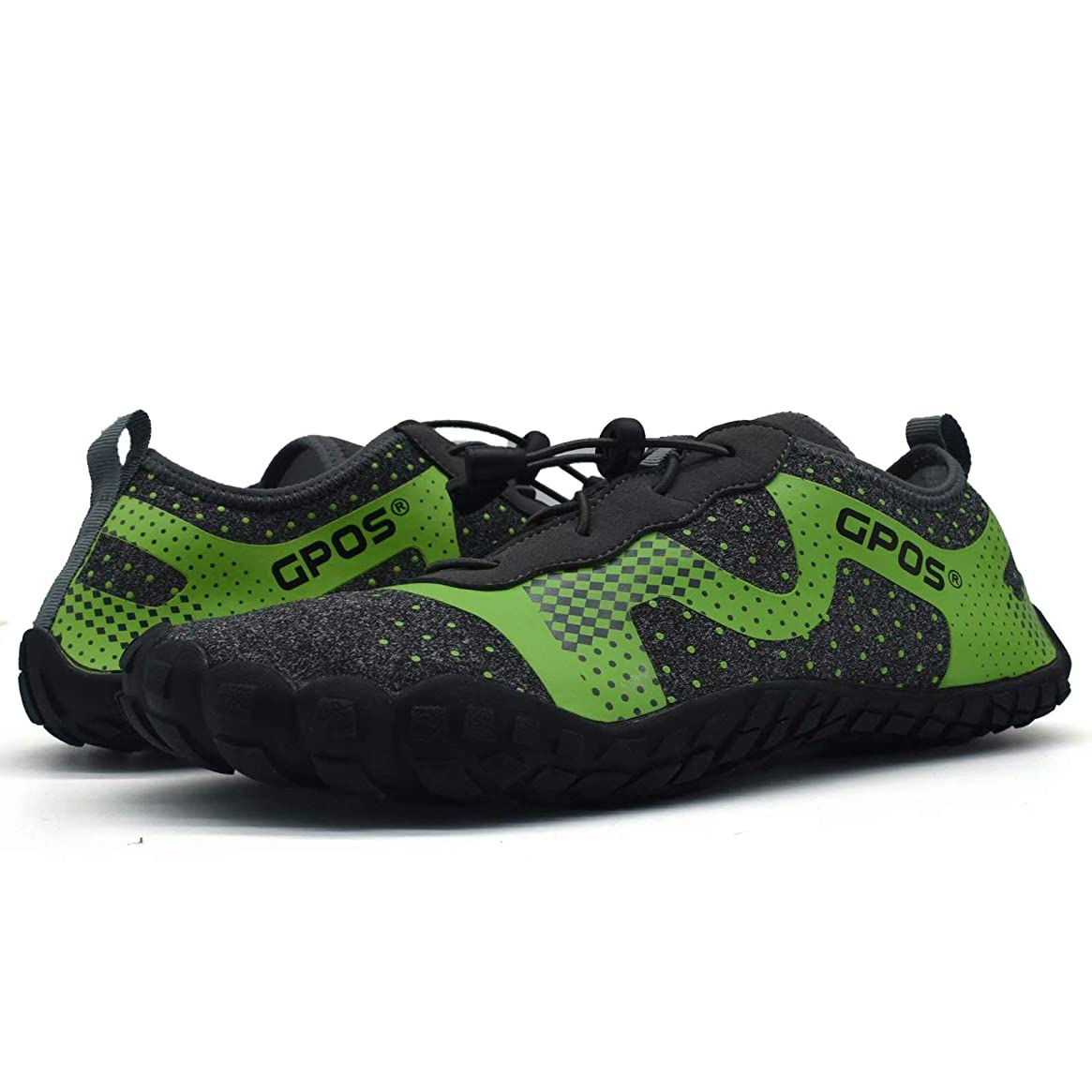 Quick Drying Water Shoes Men Flexible Barefoot Lace up Slip on Aqua Shoes Rubber Sole