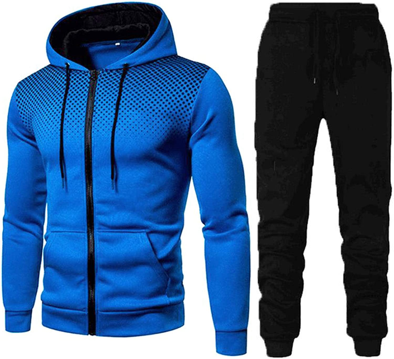 BOOM Surv/êtement Homme Ensemble Jogging Sweat-Shirt /à Capuche et Pantalon de Sport Hoodie Sweats /à Causal Manteau /à Veste Costume