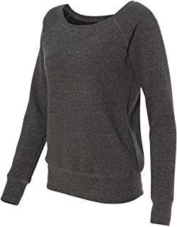 7501 Canvas Ladies' Sponge Fleece Wide Neck Sweatshirt