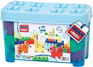 Ecoiffier Kw-7781 Abrick Maxi Construction Animals Box - 50 Pieces  Blue