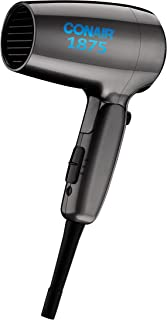 Conair 1875 Watt Compact Folding Handle Hair Dryer, Travel Hair Dryer
