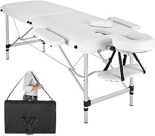 TecTake Camilla de Masaje portatil en Aluminio 2 Zonas Mesa