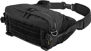 SHANGRI-LA Sling Bag Chest Pack Canvas Shoulder Outdoor Hiking Daypack Crossbody Rucksack Casual Backpack EDC for Men Women