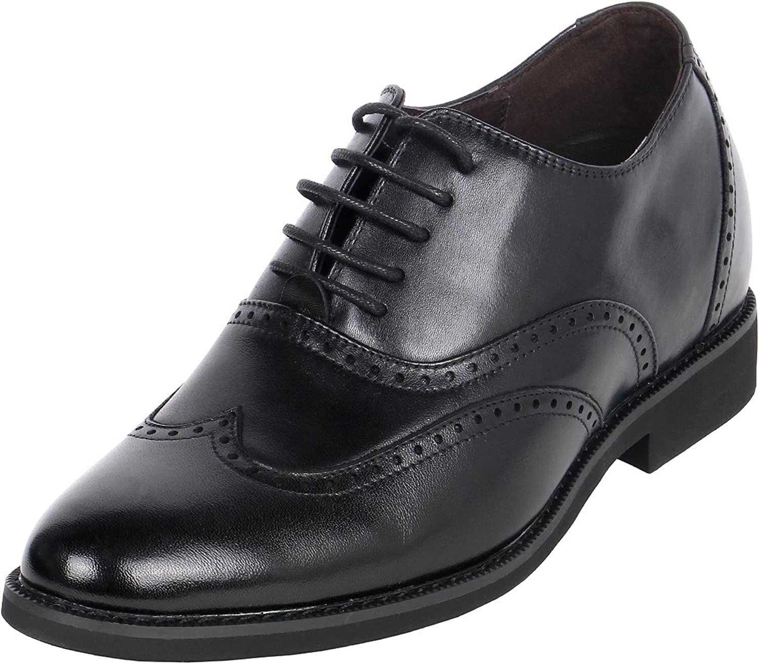 Royal Wing Tip Classic Broguing Gentlemen shoes 3  Height shoes with Lifts in Them