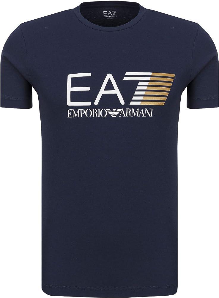 Emporio armani t-shirt maglietta ea7 per uomo a maniche corte 95% cotone 5% elastan 3ZPT62 PJ03Z1