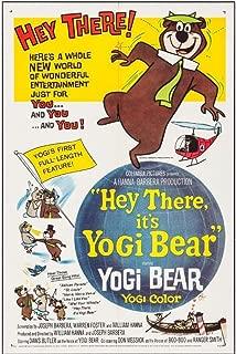 HEY THERE IT'S YOGI BEAR (1964) Original Authentic Movie Poster - 27x41 One Sheet - Single-Sided - FOLDED