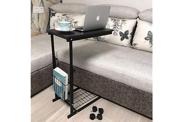 Micoe Height Adjustable With Wheels Sofa Side Table Slide Under Adjustable  Console Table With Storage For Entryway Hallway