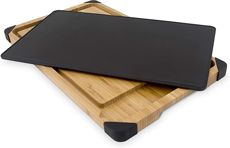 Broil King 68426 Deluxe Cutting And Serving Board Brown