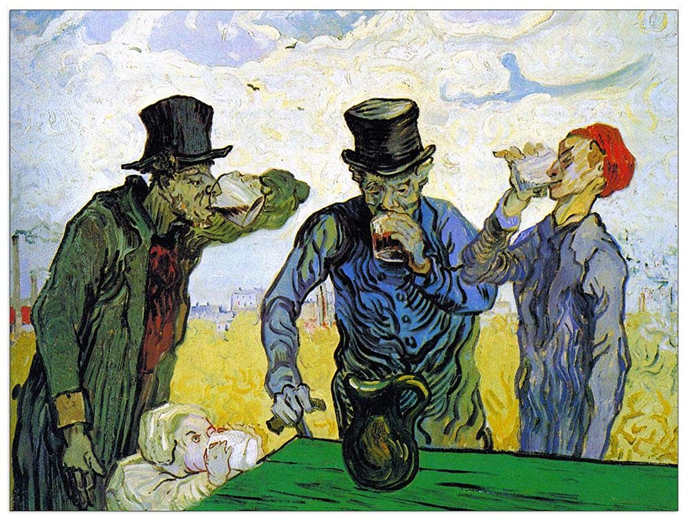 ArtPlaza TW91043 Van Gogh Vincent-Drinkers Decorative Panel, 51x39.5 Inch, Multicolored