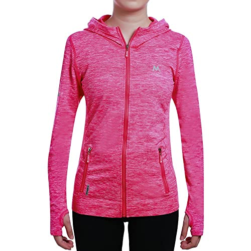c728c9e46 SEEU Women's Running Jacket, Long Sleeve Sports Shirts for Women with Full Zip  Side Pocket