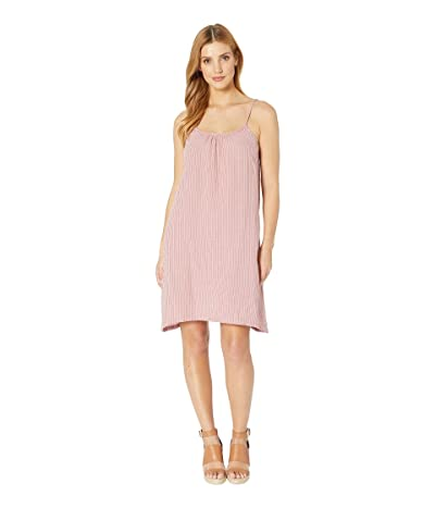 Dylan by True Grit Soft and Light Double Gauze Pinstripe Tank Dress with Pockets (Blush Crush) Women