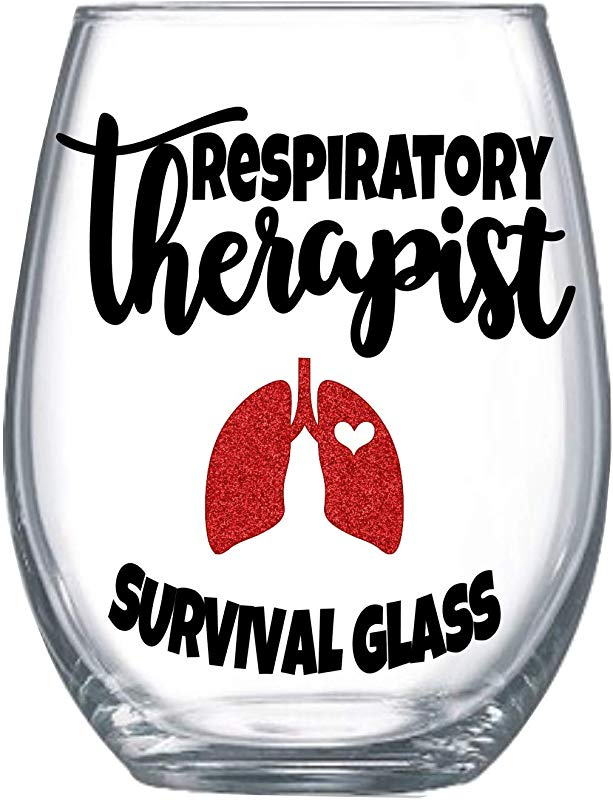 Respiratory Therapy Student Gifts For Women Medical Therapist School Acceptance Stemless Wine Glass Her 0240