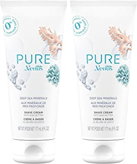Sponsored Ad - Gillette Venus PURE by Shaving Cream - Deep Sea Minerals, (Pack of 2), 6 Count