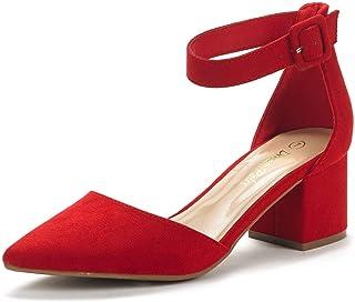 DREAM PAIRS ANNEE Chaussures Escarpins Talons Bas pour Femme