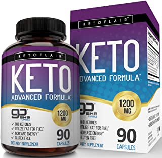 Premium Keto Diet Pills GoBHB 1200mg, 90 Capsules - Ultra Fast Pure Keto Boost Ketosis Supplement - Advanced Natural BHB Salts (beta hydroxybutyrate) Exogenous Ketones for Men and Women, Non-GMO