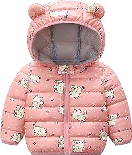 Baby Toddler Winter Warm Coat Dinosaur Light Puffer Down Cotton Jacket Zipper Bear Hood Windproof Outerwear