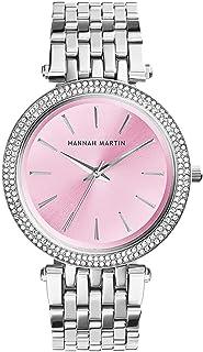 ساعة نسائية عصرية كوارتز تناظرية للسيدات ساعة يد كاجوال بسوار من الفولاذ المقاوم للصدأ 3 ATM مقاومة للماء (اللون: D)