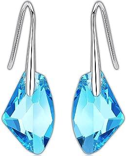 Swarovski Drop Earrings   925 Sterling Silver Earrings with Crystal from Swarovski Earrings   Swarovski Dangle Earrings for Women