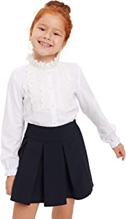 DeFacto Girl's Buttoned Ruffle Detailed - Maglietta in pizzo